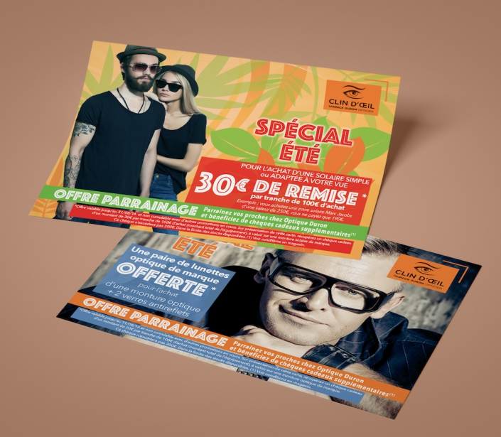 Flyer A5 campagne promotionnelle pour un opticien