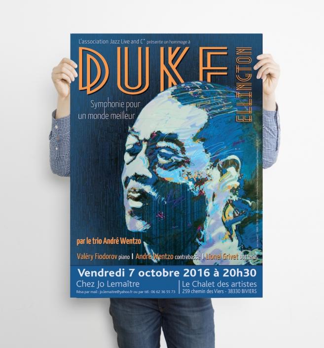 Affiche de concert 60x80