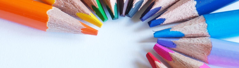 Typographic crayons de couleur