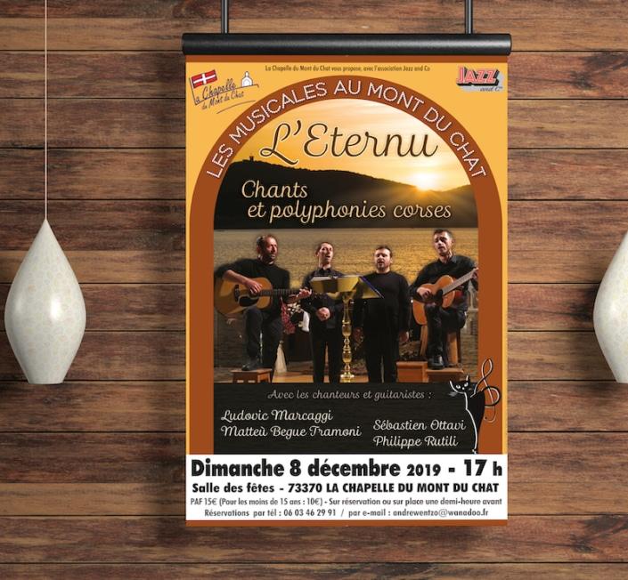 Affiche de concert A3 suspendue