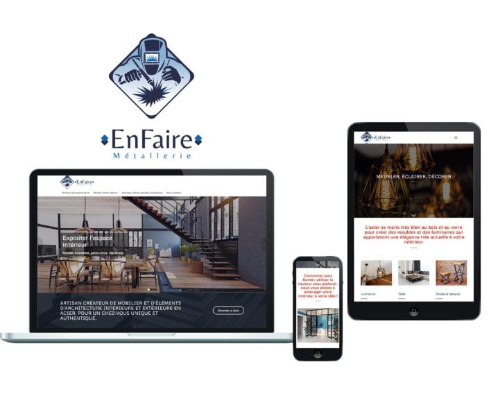 Pages d'un site web sur différents écrans