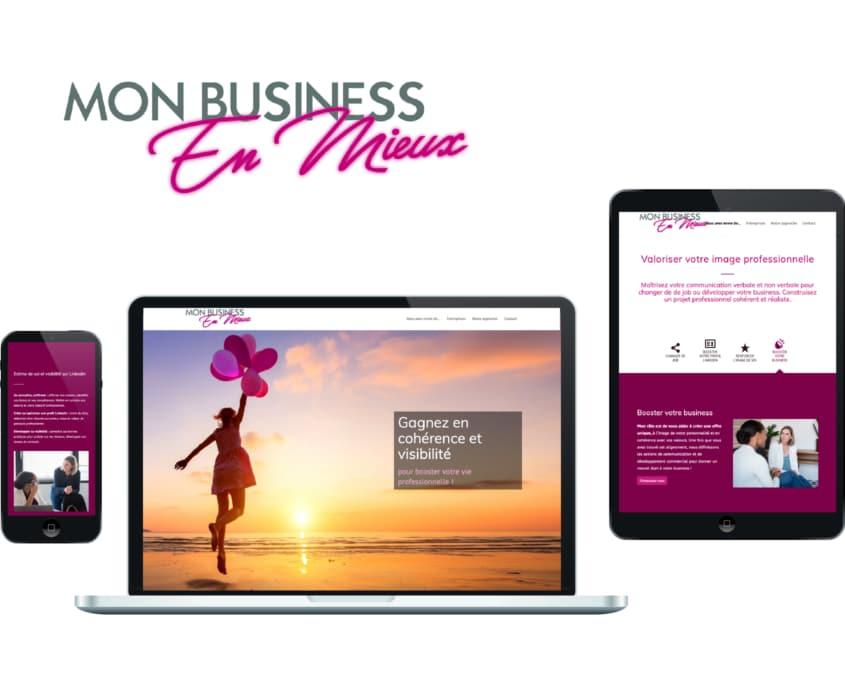 Pages de site web sur écrans de différentes tailles