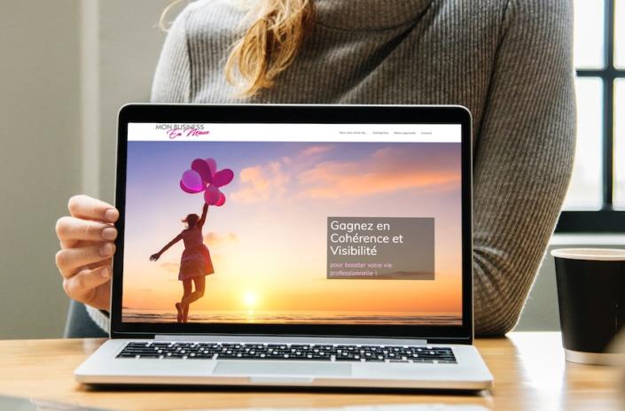 Ecran daccueil de site web responsive design