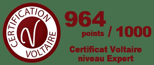 Typographic Valérie Szczupal titulaire de la Certification Voltaire Expert 964 points