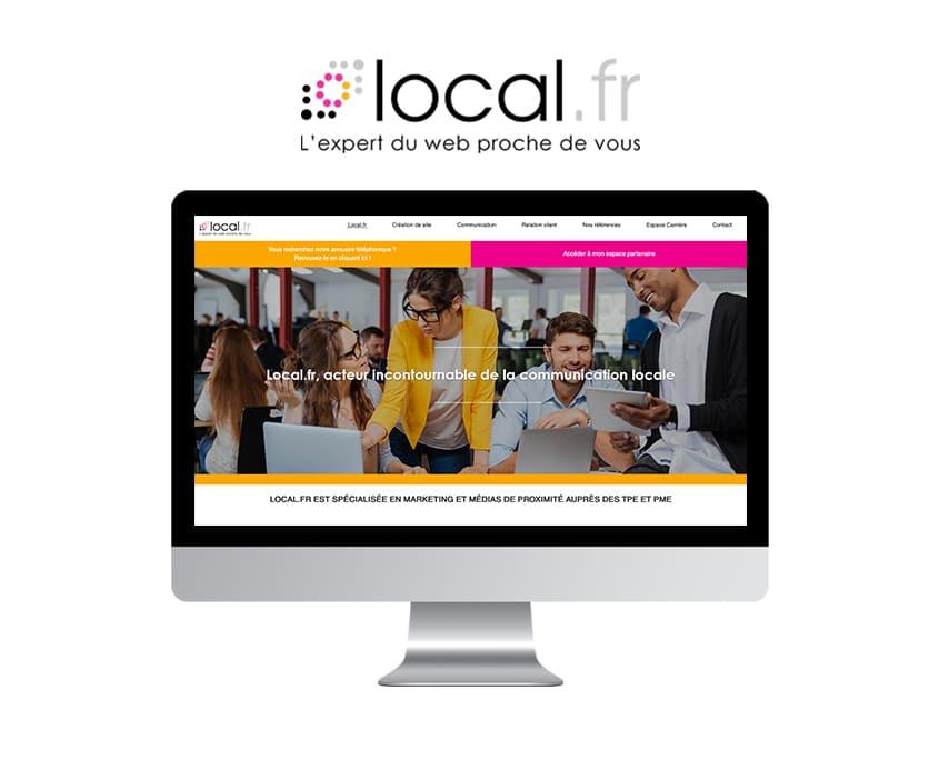 page d'accueil du site de Local.fr