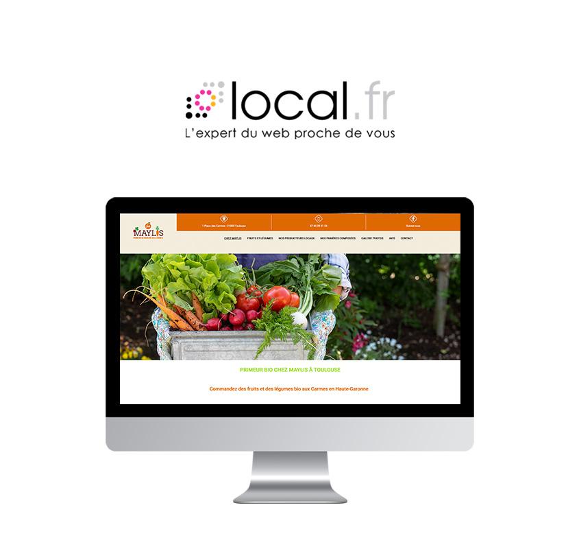 Page d'accueil du site web Maylis Primeur bio à Toulouse