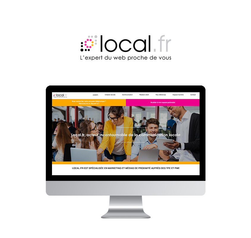 Page d'accueil du site web de Local.fr